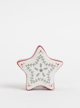 Červeno-krémová solnička ve tvaru hvězdy Cooksmart