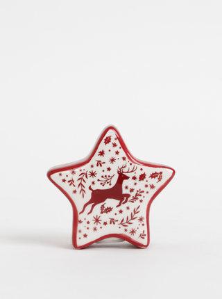 Červeno-krémová korenička v tvare hviezdy Cooksmart