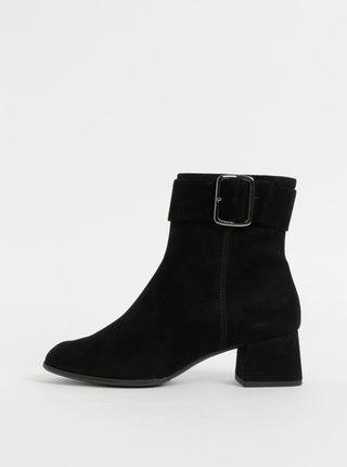 Čierne semišové členkové topánky Högl