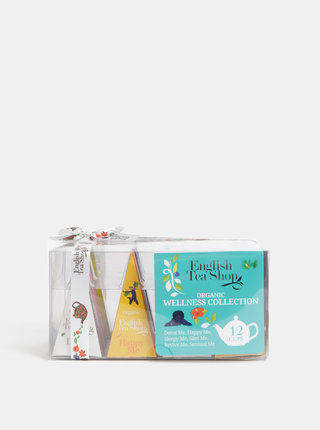 Sada dvanástich organických čajov English Tea Shop  Wellness kolekce