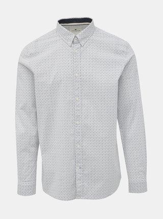 Modro-biela pánska vzorovaná košeľa Tom Tailor