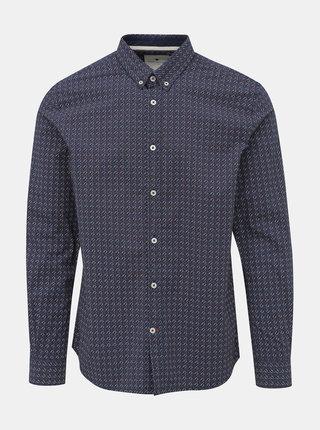 Tmavě modrá pánská vzorovaná košile Tom Tailor