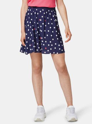 Tmavě modrá puntíkovaná sukně Tom Tailor Denim