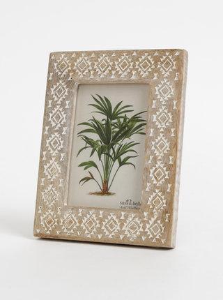 Hnedý drevený fotorámček Sass & Belle 10 x 15 cm