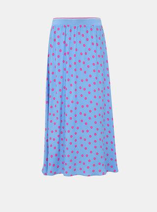Modrá puntíkovaná maxi sukně Tom Tailor Denim