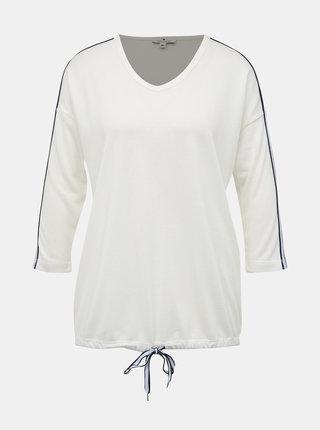 Biely dámsky ľahký sveter s pásom Tom Tailor