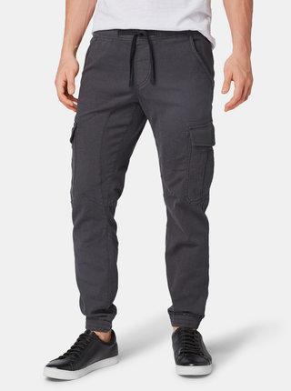 Tmavě šedé pánské slim fit kalhoty Tom Tailor Denim