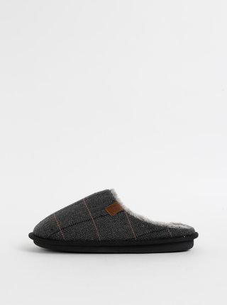 Šedé pánske kockované papuče Portland