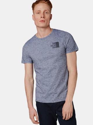 Modré pánske žíhané tričko Tom Tailor Denim