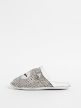 Šedé papuče s motívom sovy Something Special