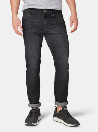 Čierne pánske slim fit rifle Tom Tailor Denim