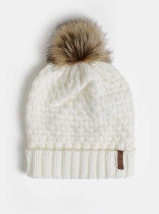 Bílá čepice s bambulí Roxy Blizzard Beanie