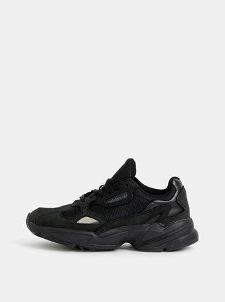 Čierne dámske tenisky s koženými detailmi adidas Originals
