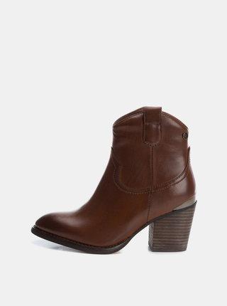 Hnedé dámske členkové topánky Xti