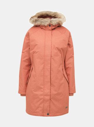 Cihlová nepromokavá dlouhá zimní bunda Roxy Shadow