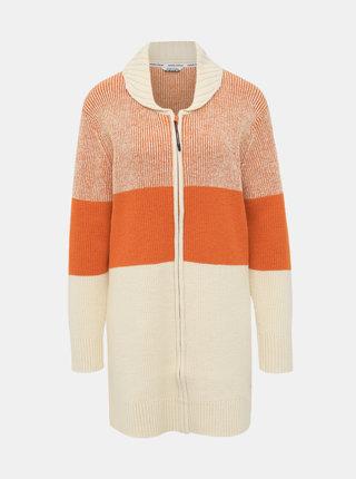 Béžovo-oranžový kardigan s prímesou vlny Kari Traa Himle