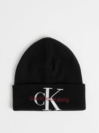 Černá čepice s výšivkou Calvin Klein Jeans