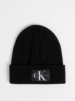 Černá čepice s příměsí vlny a kašmíru Calvin Klein Jeans