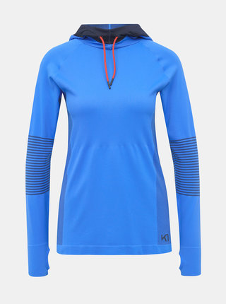 Modré funkčné tričko s kapucou Kari Traa Sofie