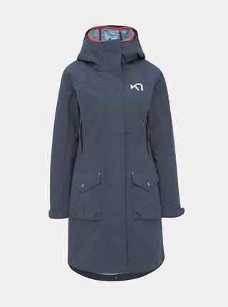 Tmavě modrý voděodpudivý kabát s lehkým odepínatelným kabátem 2v1 Kari Traa Dalane