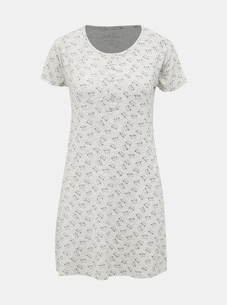 Šedá vzorovaná nočná košeľa M&Co