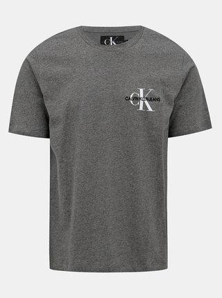 Šedé pánské tričko s potiskem Calvin Klein Jeans