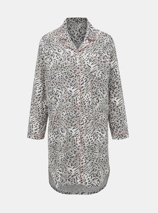 Šedá noční košile s leopardím vzorem M&Co