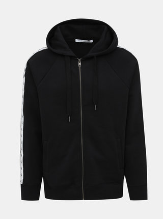 Čierna pánska mikina s pásom Calvin Klein Jeans