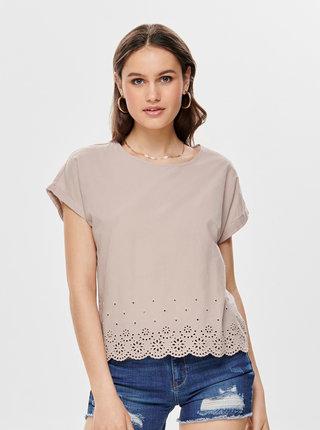 Bluza roz prafuit cu madeira Jacqueline de Yong Jules