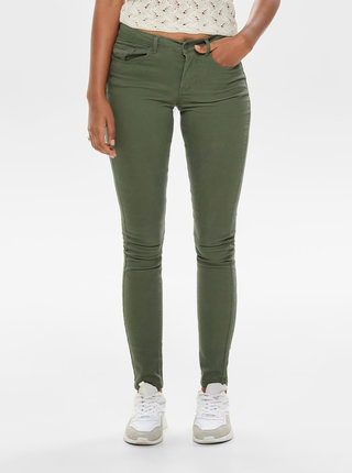 Kaki skinny fit rifle Jacqueline de Yong Five