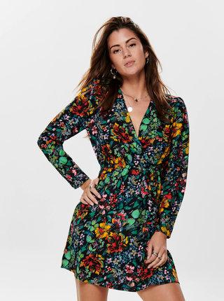 Čierne kvetované šaty ONLY Regina