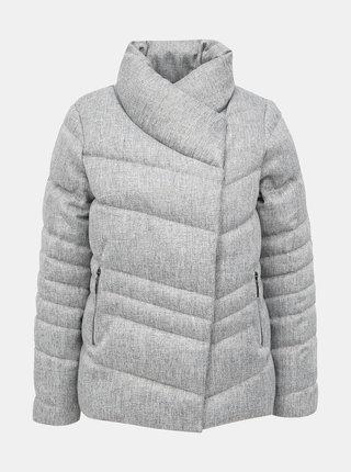 Šedá zimní prošívaná bunda M&Co