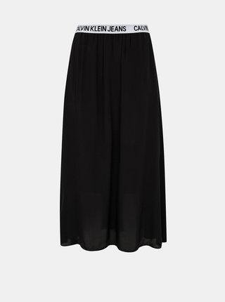 Černá midi sukně Calvin Klein Jeans