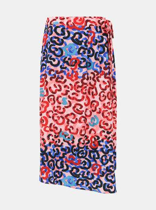 Modro-růžová vzorovaná sukně M&Co