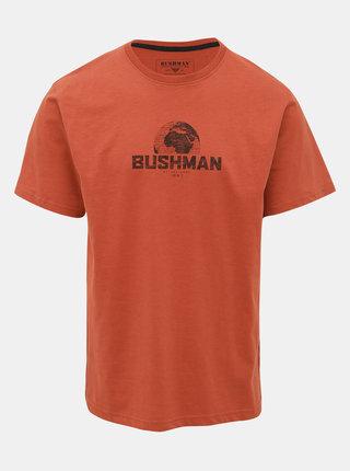 Oranžové pánske tričko s potlačou BUSHMAN Groton