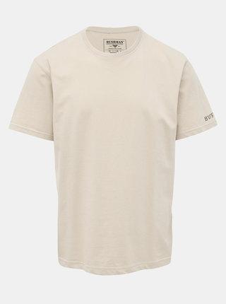 Béžové pánské tričko s potiskem BUSHMAN Arvin