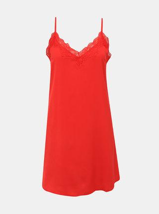 Červená noční košilka s krajkou Pieces Jessica