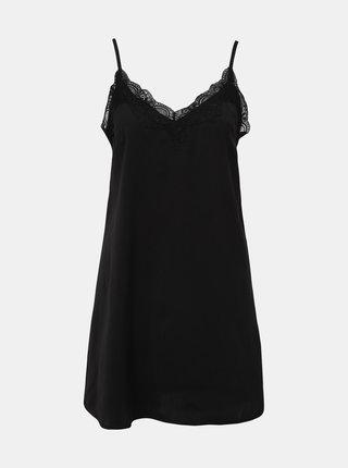 Černá noční košilka s krajkou Pieces Jessica
