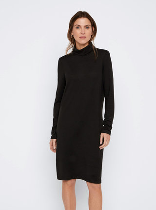 Černé svetrové basic šaty VERO MODA Alena