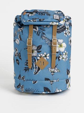 Svetlomodrý dámsky kvetovaný batoh The Pack Society