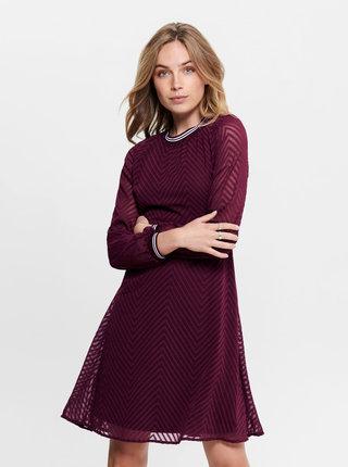 Vínové šaty ONLY Lina