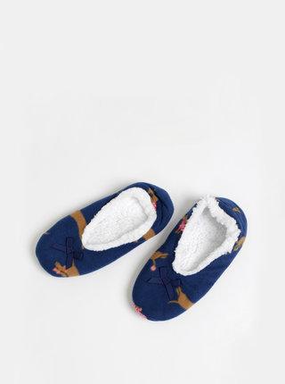 Tmavě modré vzorované papuče M&Co