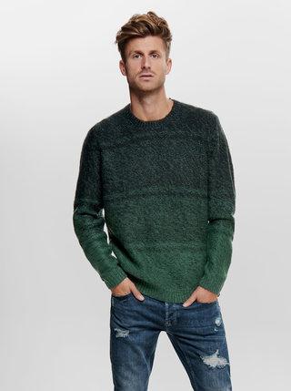 Tmavě zelený svetr ONLY & SONS Callen