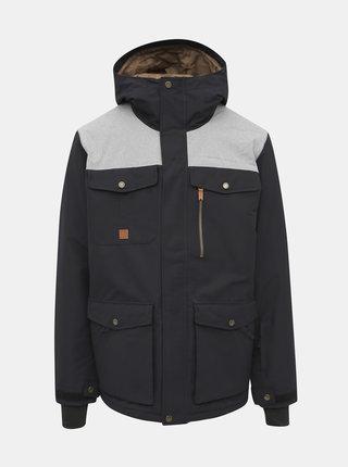 Čierna nepromokavá zimná bunda Quiksilver Raft