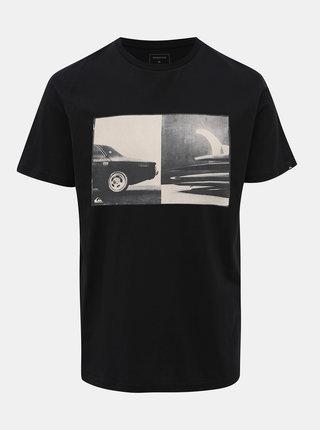 Černé tričko s potiskem Quiksilver High Speed