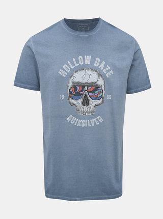 Svetlomodré tričko s potlačou Quiksilver Hollowday