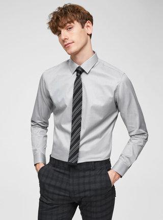 Šedá formální slim fit košile Selected Homme Pen-Pelle