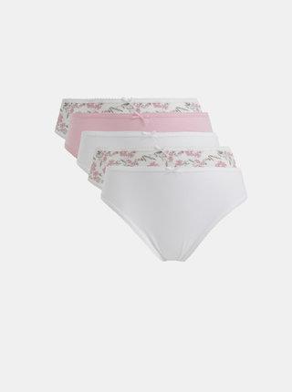 Sada piatich nohavičiek v rúžovej a bielej farbe M&Co
