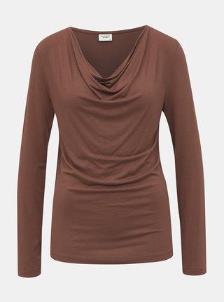 Hnědé tričko Jacqueline de Yong
