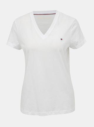 Biele dámske basic tričko Tommy Hilfiger Heritage